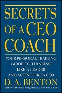 capa do livro secrets of a CEO coach sobre coaching e psicologia aplicada a negócios
